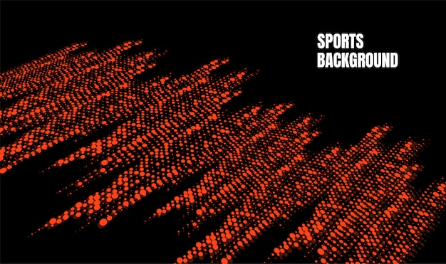 Abstract colorful art for sports background. dynamic particles Premium Vector
