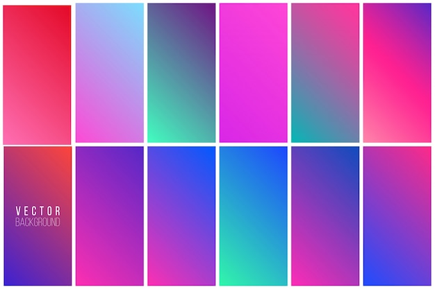 Abstract colorful background collection Free Vector