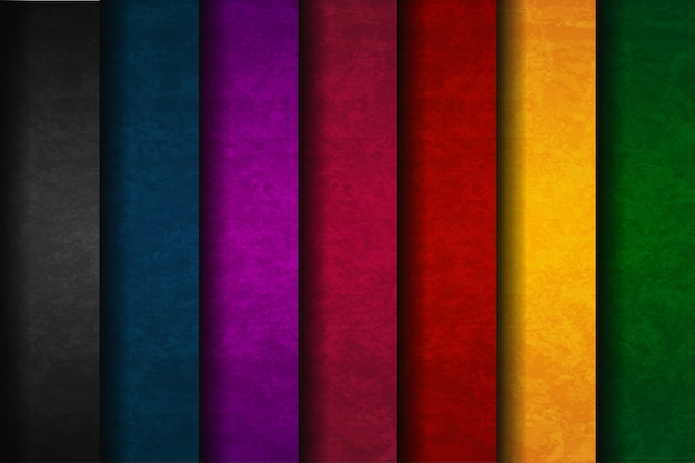 Abstract colorful background set