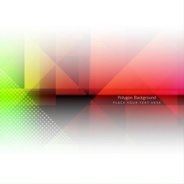 Estratto del poligono background design colorato Vettore gratuito