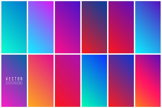 Abstract colorful backgroundコレクション 無料ベクター