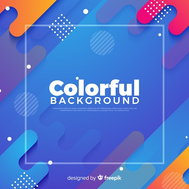Abstract colorful background Free Vector