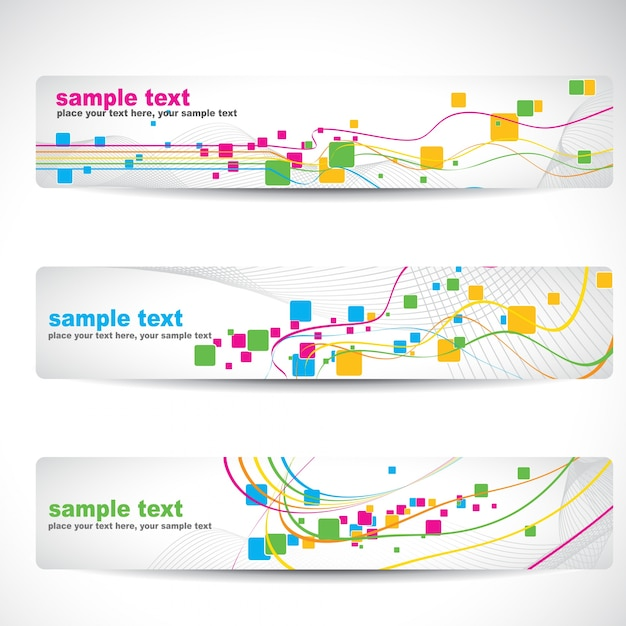 abstract colorful banner design vector free download