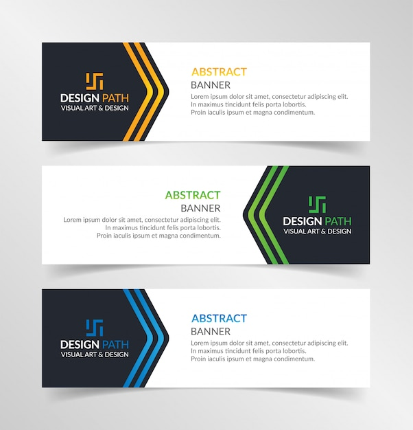 Abstract colorful banners template Premium Vector
