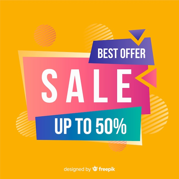 Abstract colorful best offer  banner Free Vector