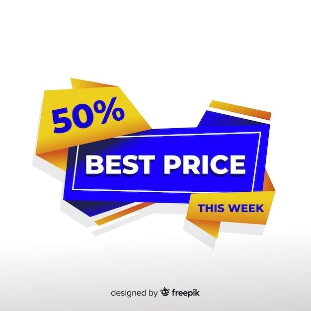 Abstract colorful best price banner Free Vector