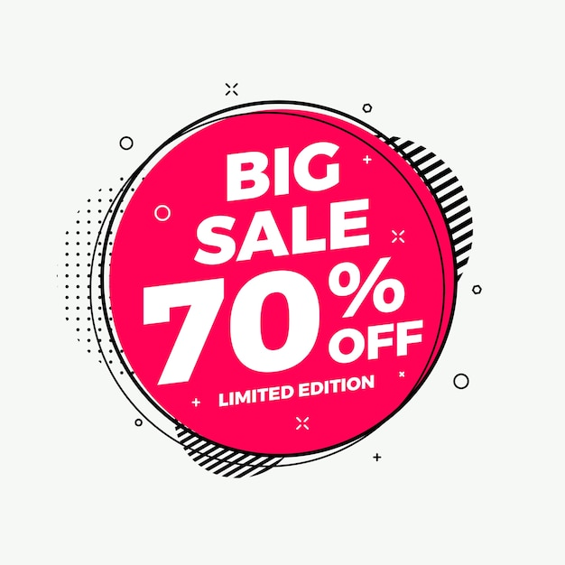 Abstract colorful big sale modern background Premium Vector