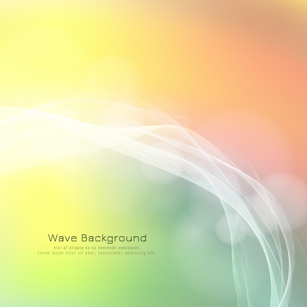 Abstract colorful bright wave background Free Vector
