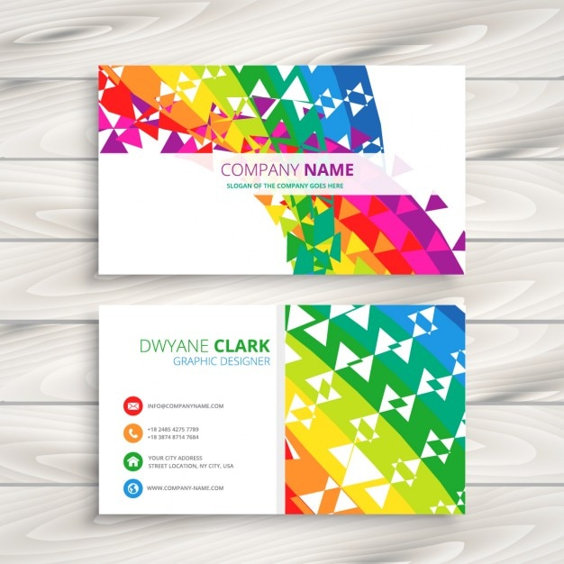 Abstract colorful business card vector free download abstract colorful business card free vector colourmoves