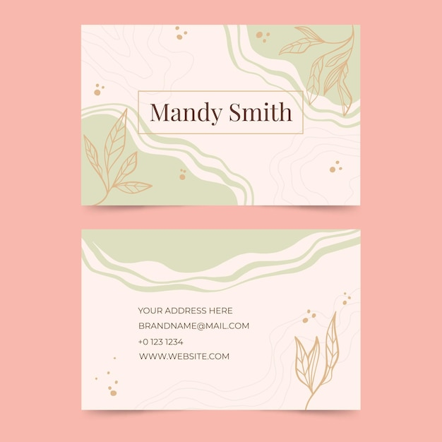 Abstract colorful business card Free Vector
