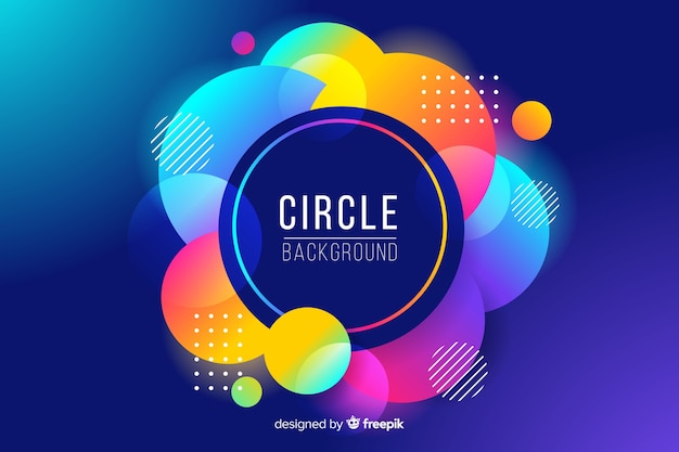 Abstract colorful circles background Free Vector