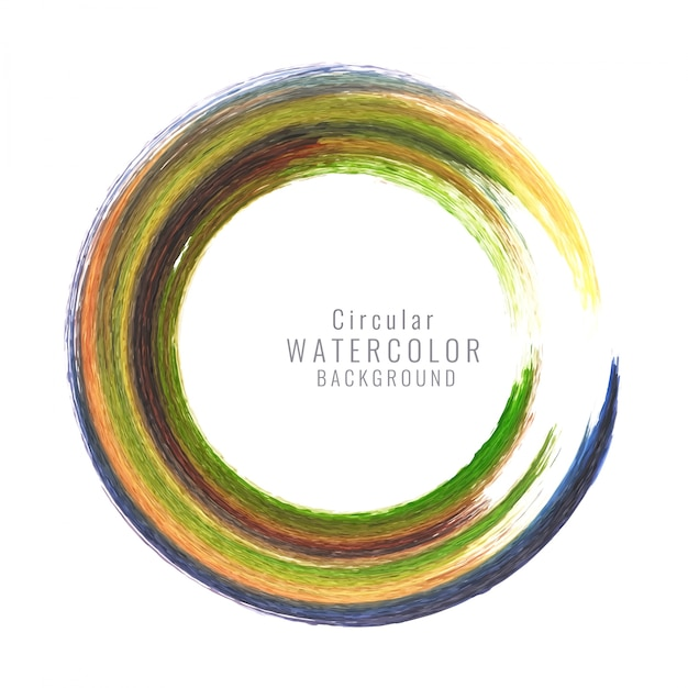 Abstract colorful circular watercolor background