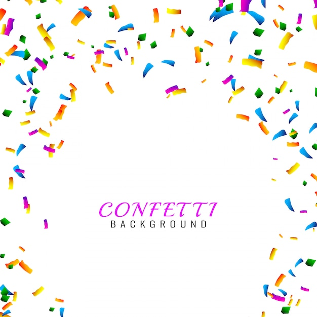 Abstract colorful confetti background Free Vector