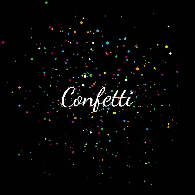 Abstract colorful confetti Free Vector