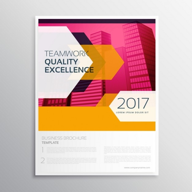 free corporate brochure templates - abstract colorful corporate brochure template vector