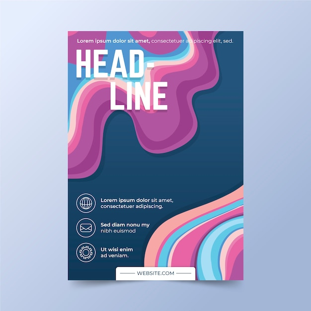 Abstract colorful cover Free Vector