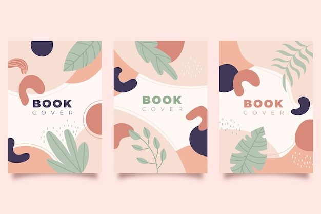 Abstract colorful covers template concept Free Vector