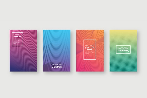 Abstract colorful covers Free Vector