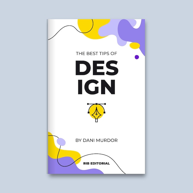 Abstract colorful design book cover Free Vector