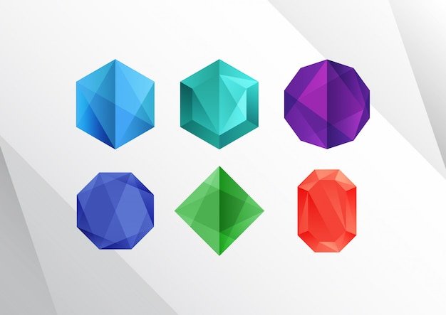 Abstract colorful diamond shapes Premium Vector