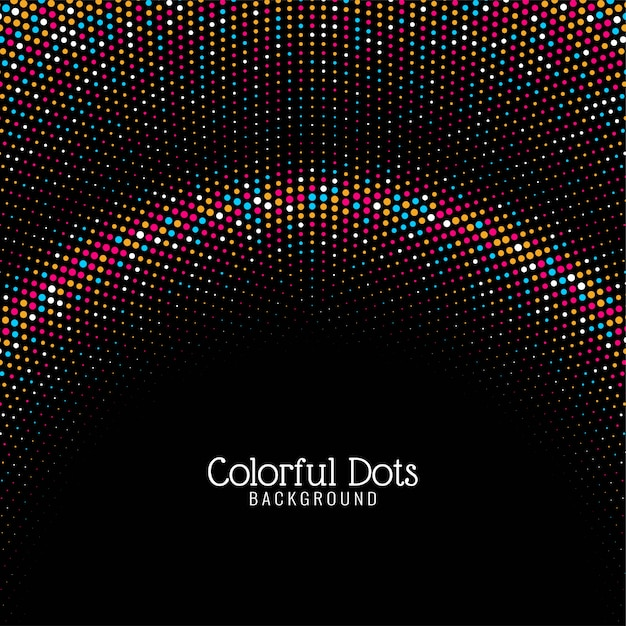 Abstract colorful dots modern background Free Vector
