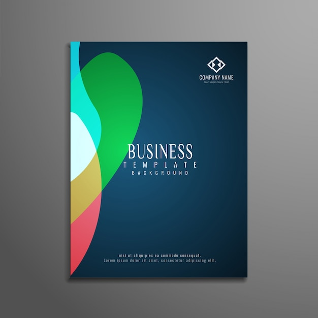 Abstract Colorful Elegant Business Brochure Design Vector  Free