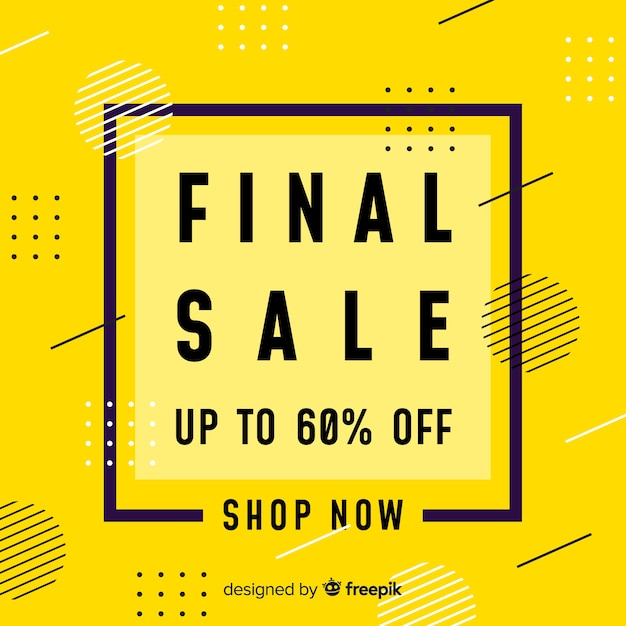 Abstract colorful final sale design Free Vector