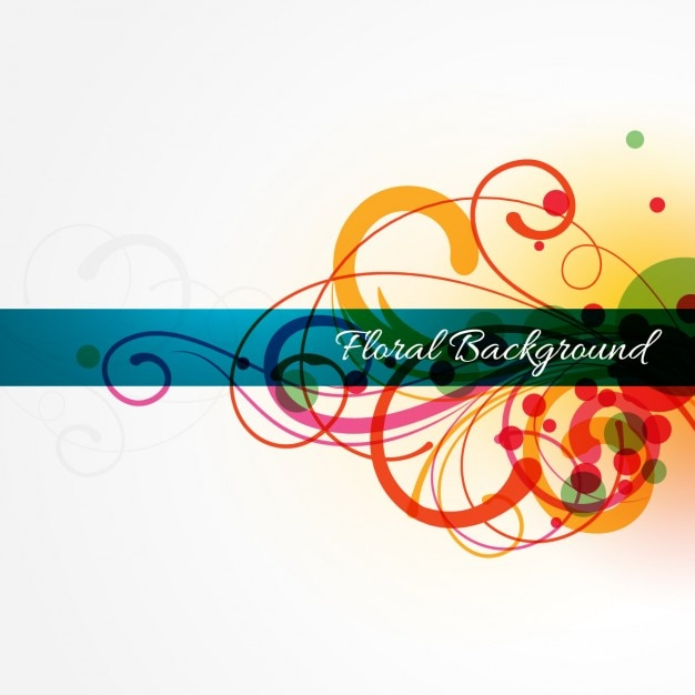 Abstract colorful floral background Free Vector
