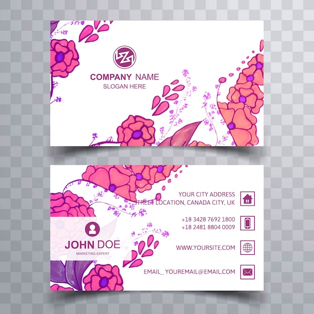 Abstract colorful floral business card template vector premium abstract colorful floral business card template premium vector cheaphphosting Image collections