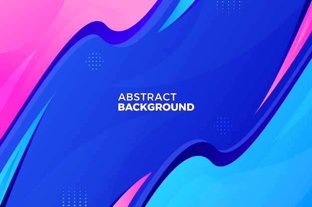 Abstract colorful flow shapes background Premium Vector