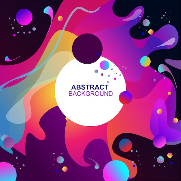 Abstract colorful fluid background Vector   Premium Download