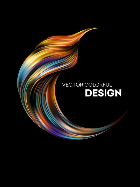 Abstract colorful fluid background   Premium Vector