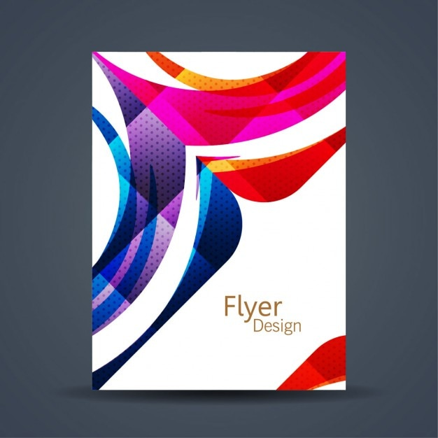 abstract colorful flyer template vector