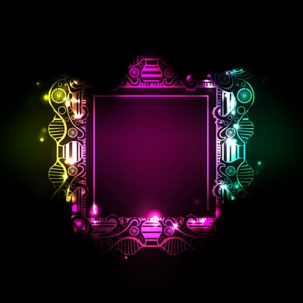abstract colorful frame background vector free download