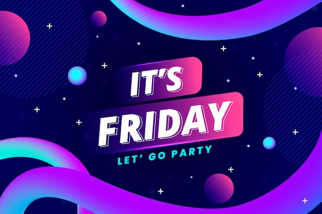 Abstract colorful friday background Free Vector
