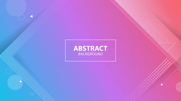 Abstract colorful geometric background Premium Vector
