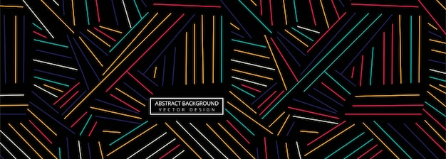 Abstract colorful geometric lines header background Premium Vector