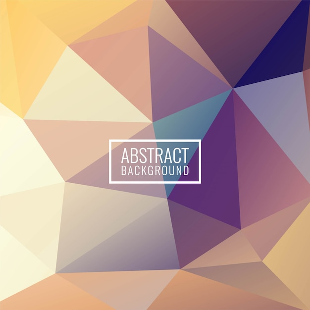 Abstract colorful geometric polygon modern background Free Vector