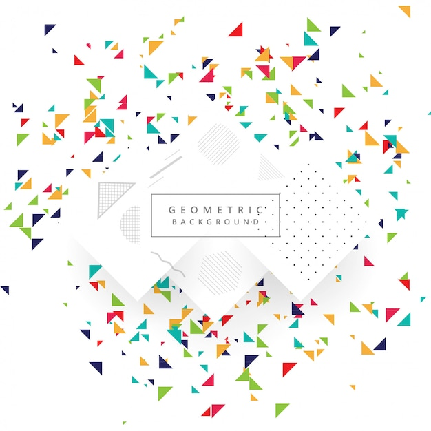 Abstract Colorful Geometric Template Background Vector