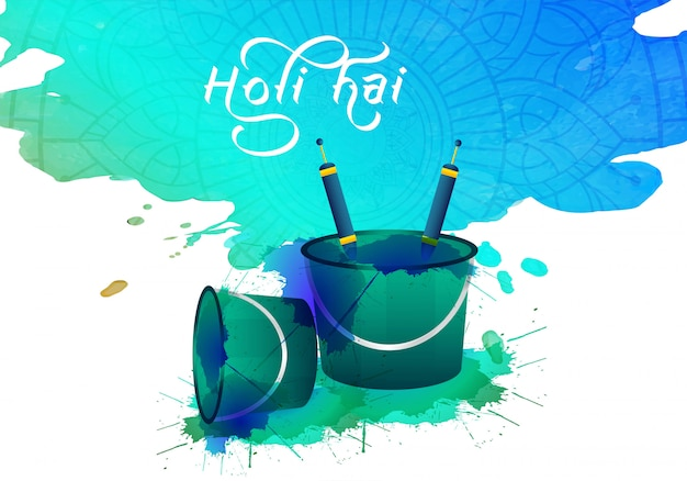 Abstract colorful holi festival celebration Free Vector