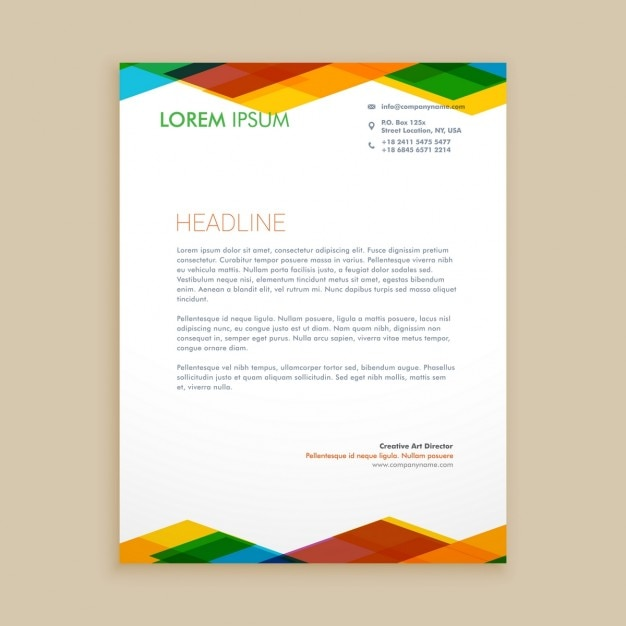 Letterhead free vector 1 clip art vector site abstract colorful letterhead vector free download rh freepik com corporate letterhead free vector letterhead design vector spiritdancerdesigns Image collections