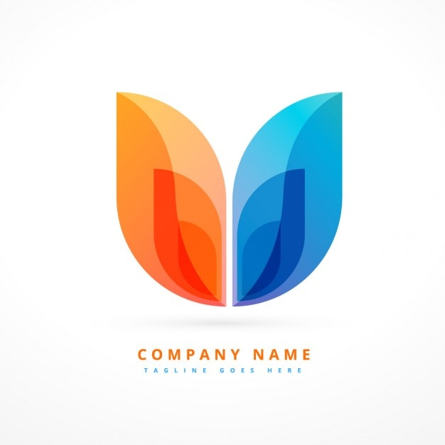 Abstract Colorful Logo Design Vector Free Download: blueprint designer free
