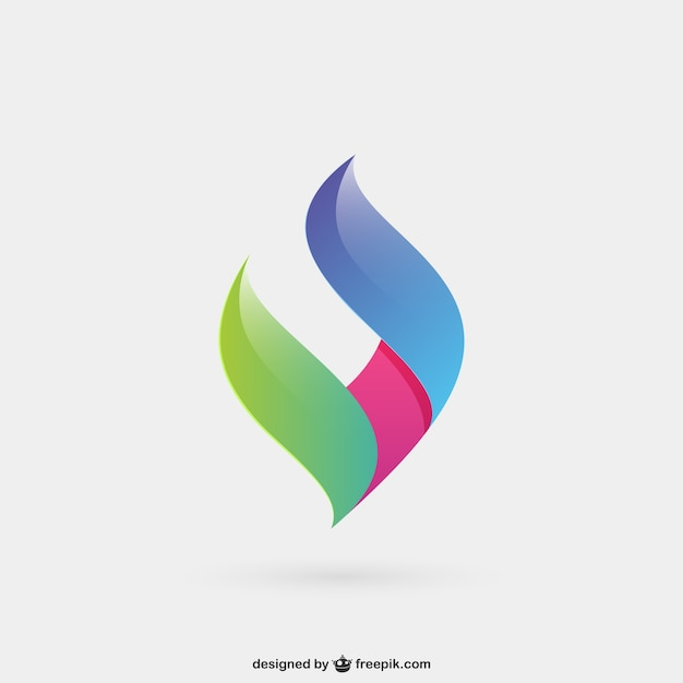 Abstract and colorful logo Free Vector