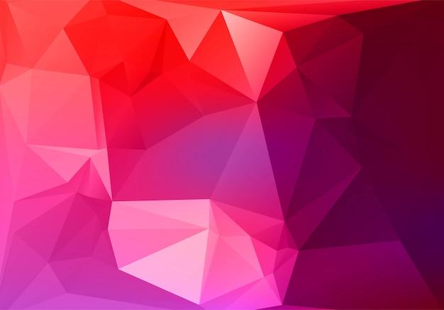 Абстрактный красочный низкий поли треугольник формирует фон Бесплатные векторы