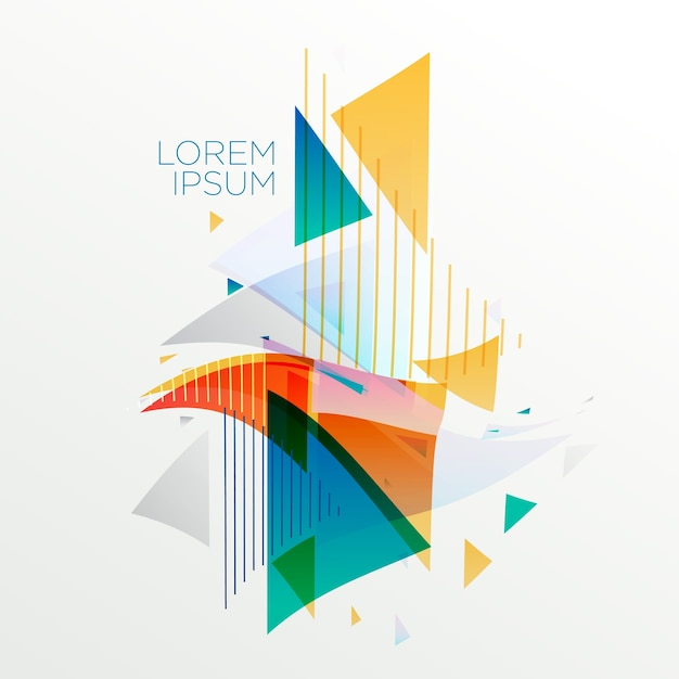 Abstract colorful memphis style background Free Vector