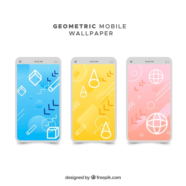Abstract colorful mobile wallpapers