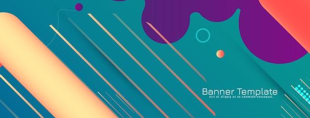 Design moderno colorato astratto banner Vettore gratuito