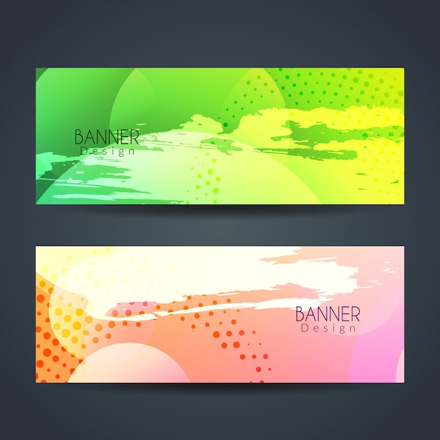 Abstract colorful modern banners design