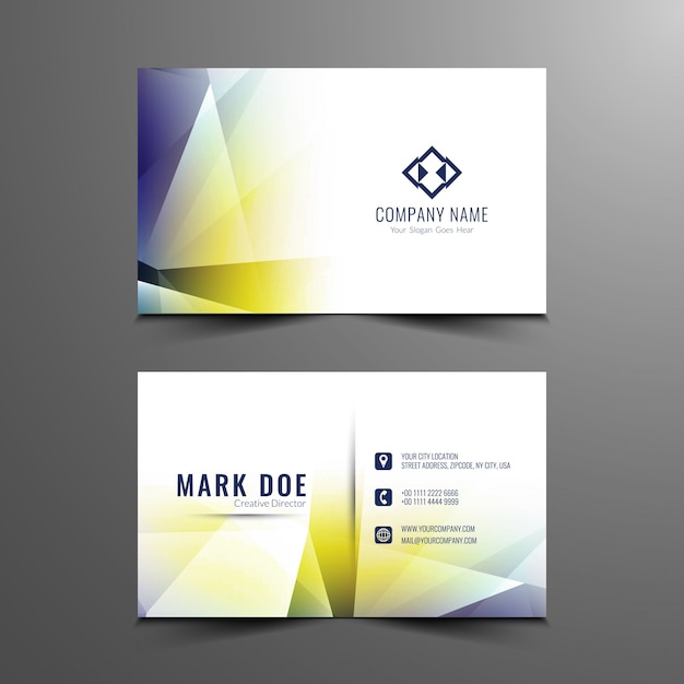 Abstract colorful modern business card