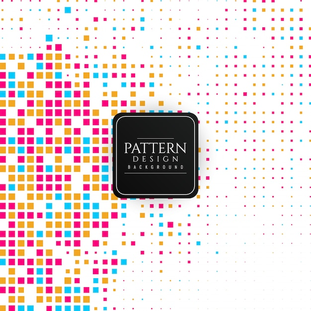 Abstract colorful mosaic pattern background Free Vector
